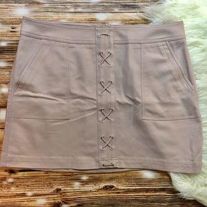 Express Lace-Up Patch Pocket Mini Skirt